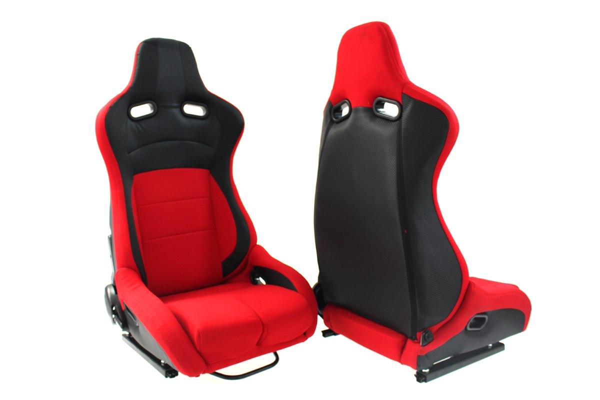 Fotel sportowy Monza Furio Red - GRUBYGARAGE - Sklep Tuningowy